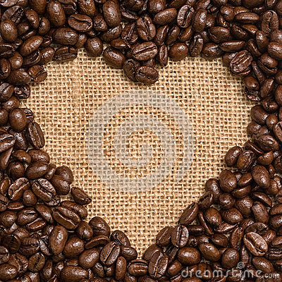 Free Coffee Beans Heart Stock Photography - 26403652