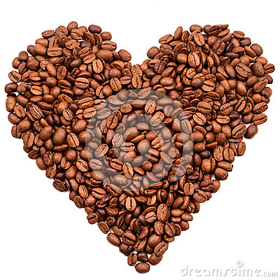 Free Coffee Beans Heart Royalty Free Stock Images - 45638489