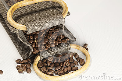 Coffee Beans in a Hessian Sack