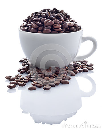 Free Coffee Beans In Cup Stock Images - 25354124