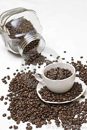 Free Coffee Beans In Cup Stock Photo - 3764200