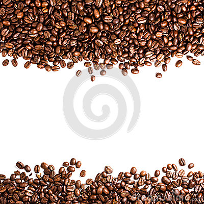 Free Coffee Beans Isolated On White Background With Copyspace For Te Royalty Free Stock Photos - 33277098