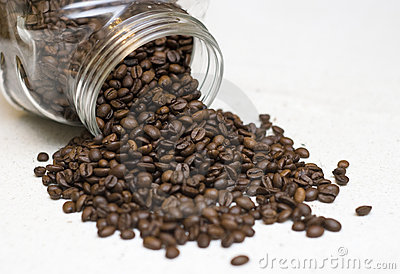 Coffee beans jar.