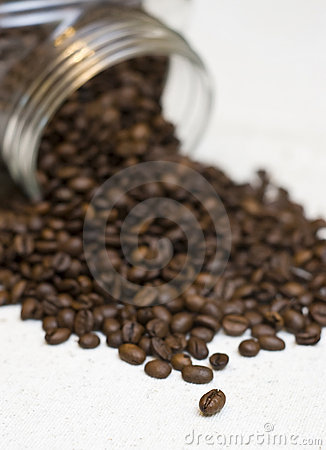 Free Coffee Beans Jar. Royalty Free Stock Photos - 3764878