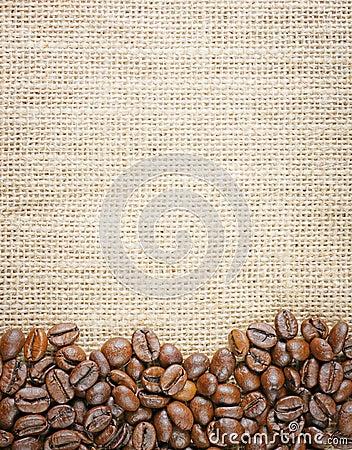 Free Coffee Beans Juta Background Stock Photo - 41532980
