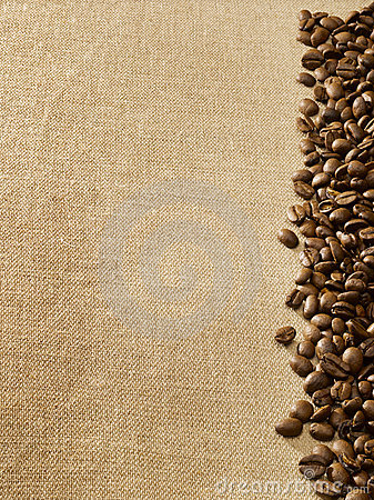 Free Coffee Beans On Burlap Stock Photo - 3130440