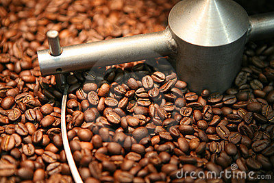 Coffee beans roasting
