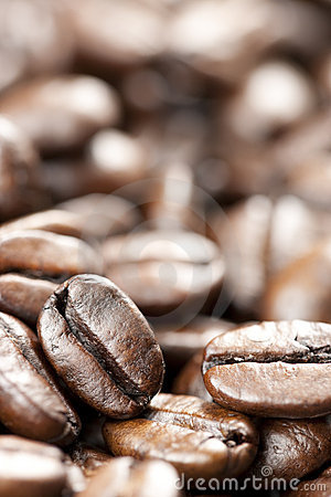 Coffee Beans with Selective Focus