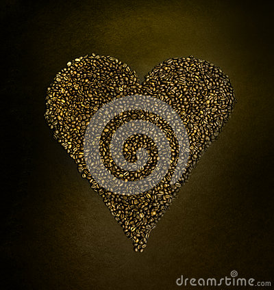 Free Coffee Beans Shape Like Heart Love Royalty Free Stock Photo - 49521575