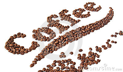 Coffee beans written