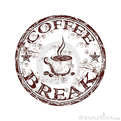 Free Coffee Break Stamp Royalty Free Stock Photo - 14642215