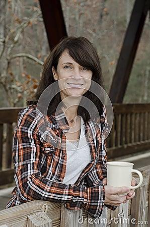 Coffee on the bridge