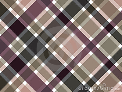 Coffee brown plaid pattern