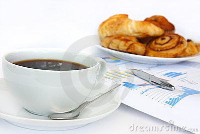 Coffee business breakfast