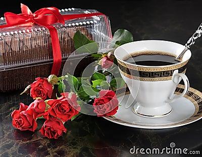 Coffee and cake.