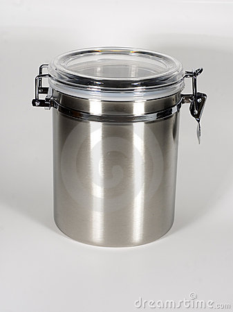 Coffee Canister Stock Photo