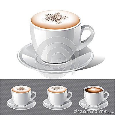 Coffee - cappuccino ,espresso ,latte , mocha