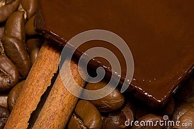 Coffee, chocolate and cinnamon.