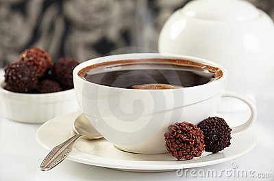 Coffee And Chocolate Truffles Stock Images - Image: 17850724