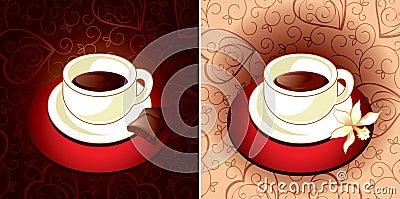 Coffee chocolate and vanilla
