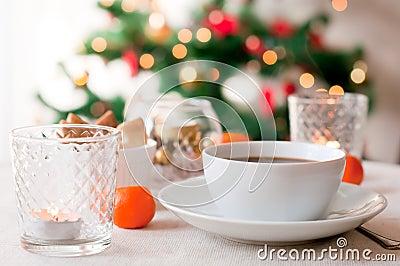 Coffee on Christmas morning