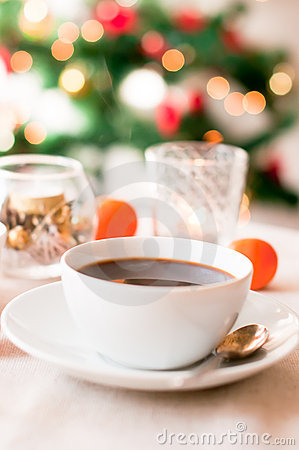 Coffee on Christmas morning
