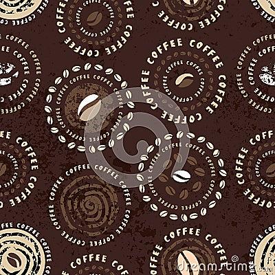 Coffee circles pattern