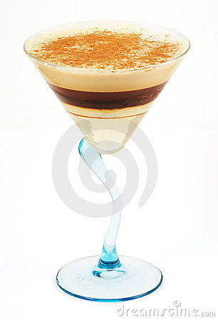 Coffee cocktail in glass #16