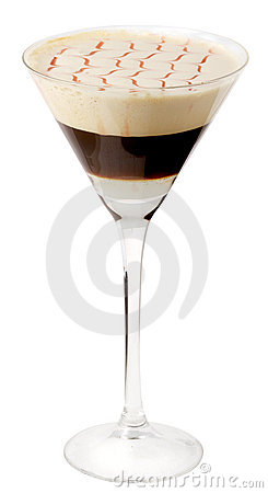 Coffee cocktail in glass #19