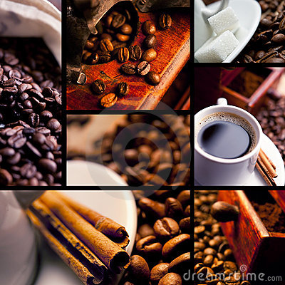 Free Coffee Collage Stock Image - 12750371