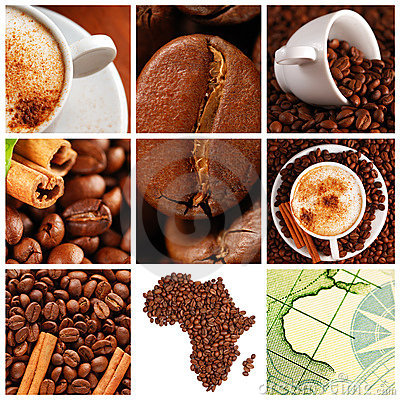 Free Coffee Collage Royalty Free Stock Photography - 9816687