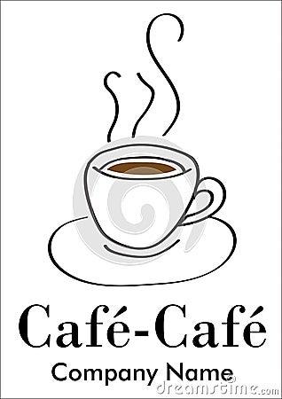 Coffee company or bar logotype
