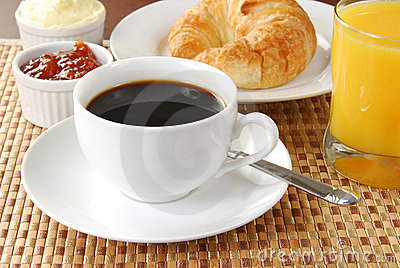Coffee continental breakfast