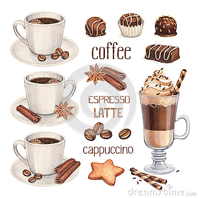 Free Coffee Cup And Chocolate Sweets Royalty Free Stock Image - 38374126