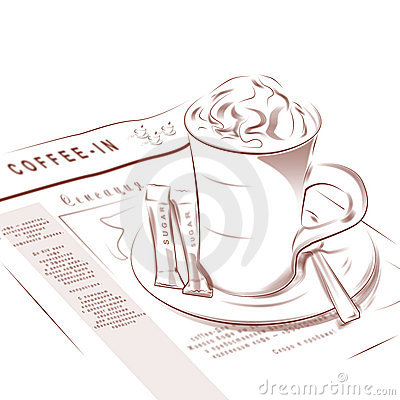 Free Coffee Cup And Morning Newspaper Royalty Free Stock Photo - 14484445