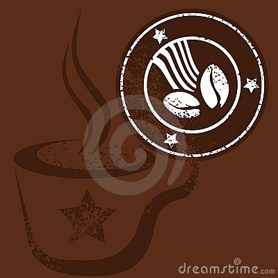 Free Coffee Cup And Stamp Stock Photo - 4825000