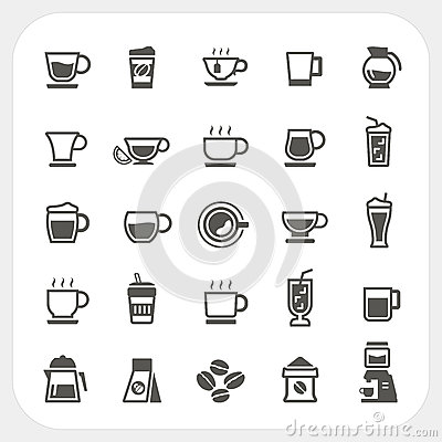 Free Coffee Cup And Tea Cup Icons Set Stock Photo - 39387650