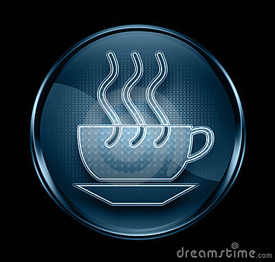 Coffee cup icon dark blue.