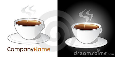 Coffee cup icon and logo design