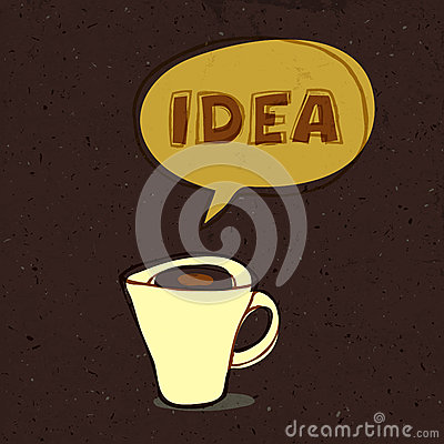 Coffee cup of idea