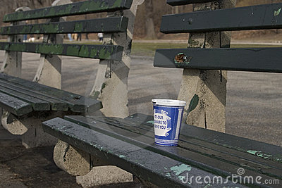Coffee cup at the park