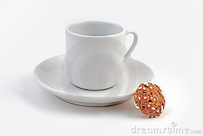 Coffee Cup, Saucer and Cookie