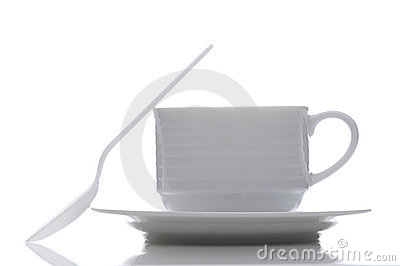 Coffee Cup saucer and Spoon