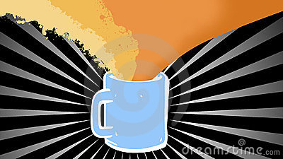 Coffee cup and steam background