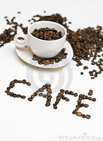 Coffee cup text -  cafe