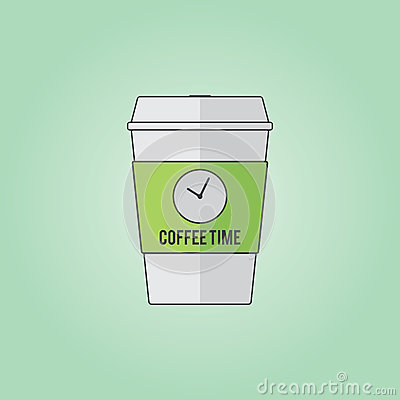 Coffee cup vector illustration Vector Illustration