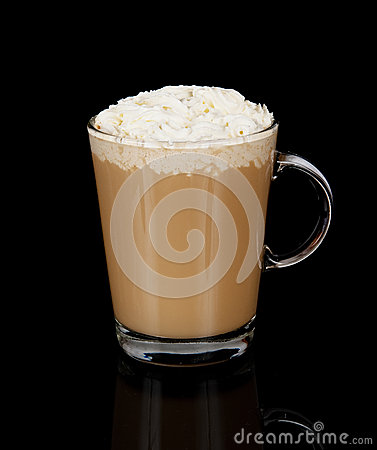 Coffee cup with whipped cream