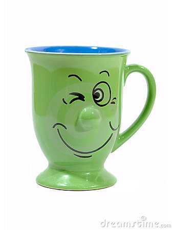 Free Coffee Cup With A Grin Stock Image - 149821