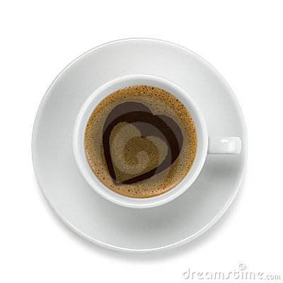 Free Coffee Cup With Heart Stock Photography - 1184892