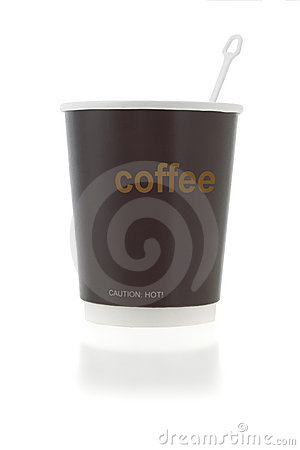 Free Coffee Cup With Stirrer Stock Photography - 8181582